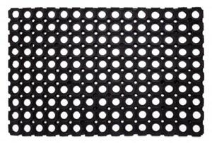Ringgummimatte ,  schwarz, 40 x 60 cm
