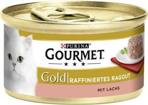 Purina Gourmet Gold Katzenfutter Raffiniertes Ragout mit Lachs ,  Inhalt: 85 g