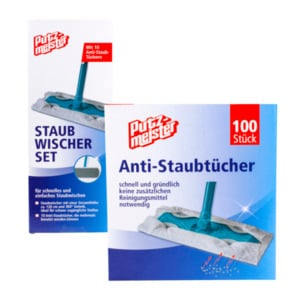PUTZMEISTER     Staubwischerset / Anti-Staubtücher