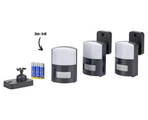casalux  LED-Leuchten mit Bewegungsmelder, 3er-Set