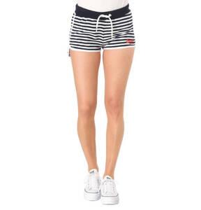 Superdry             Shorts, Metallic-Streifen-Details, Gummibund, Logo-Stickerei