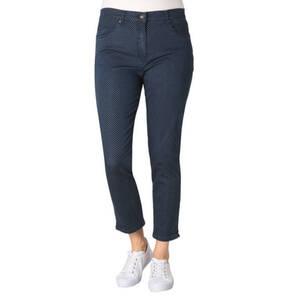 RAPHAELA BY BRAX             Jeans, Slim Leg, Punkte, Baumwoll-Stretch