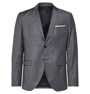 SELECTED             Business-Anzug, Reverskragen, unifarben