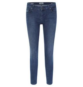 "LTB             Jeans ""Mina"", Slim Fit, Used-Look, unifarben"
