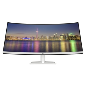 HP 34f Curved Display - 86 cm (34 Zoll), LED, Curved IPS-Panel, UWQHD, AMD FreeSync, USB-Hub