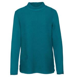 olsen             Pullover, Baumwoll-Anteil, Stehkragen, unifarben