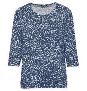 olsen             Shirt, 3/4-Arm, Baumwoll-Anteil, Punkte, Schlüssellochausschnitt