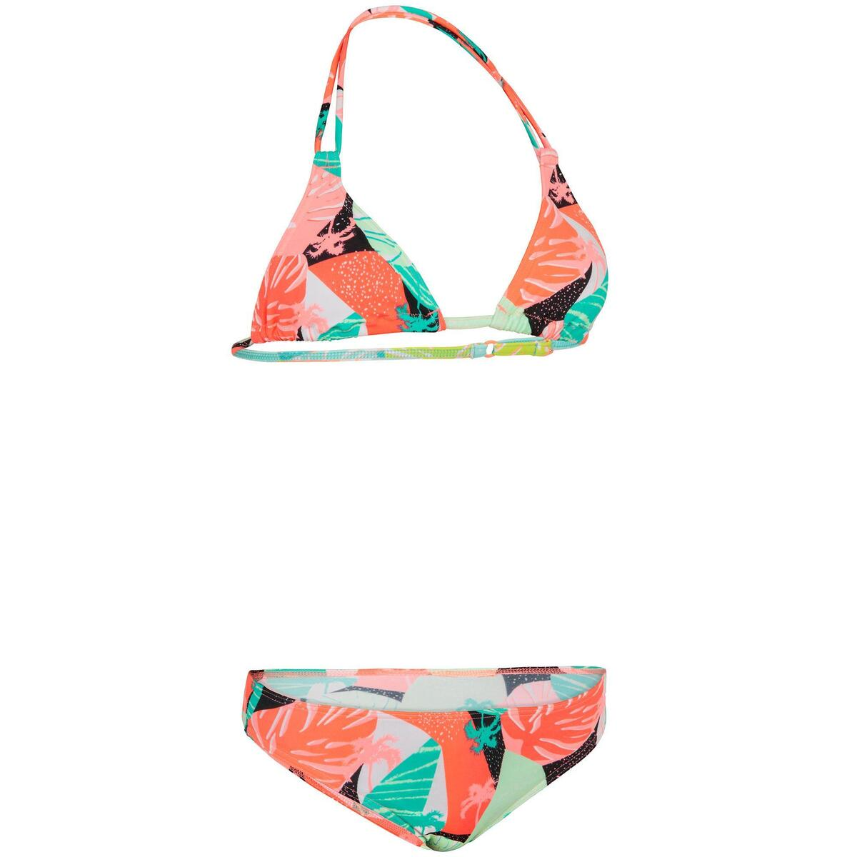 Bild 2 von Bikini-Set Triangel Taloo Lilou Origami Surfen Mädchen neon-rosa