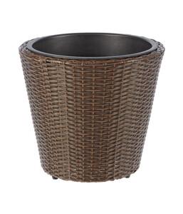 Dehner Kunststoff-Flechttopf, rund, Ø 40 cm