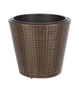 Dehner Kunststoff-Flechttopf, rund, Ø 50 cm
