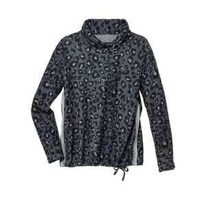 Damen-Pullover mit weitem Rollkragen