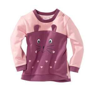 Baby-Mädchen-Sweatshirt mit lustigem Gesicht