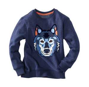 Kinder-Jungen-Sweatshirt mit großem Wolf