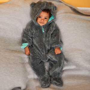 Baby-Jungen-Overall mit süßen Ohren