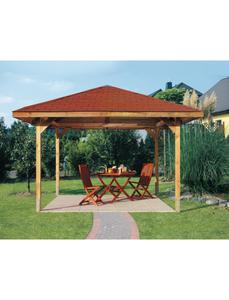 Pavillon-Set BxT: 380 cm x 380 cm, braun