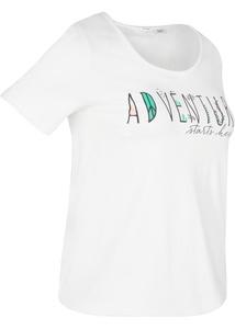 Sport-T-Shirt mit Gummizug am Saum, kurzarm