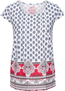 Baumwoll Shirt, bedruckt, Kurzarm