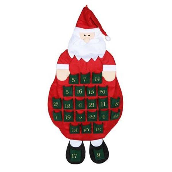Adventskalender Santa 55x106cm