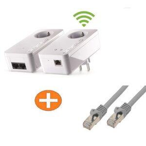 devolo dLAN 550+ WiFi Starter Kit + Netzwerkkabel 1m