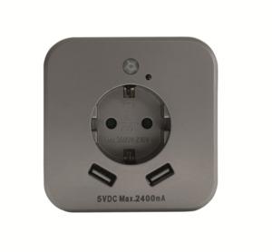 InnTec Nachtlicht mit 2 USB-Steckdosen