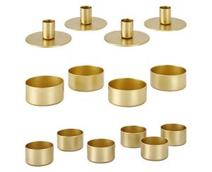 CASA Deco Metalltablett/Lichte oder Stabkerzenhalter