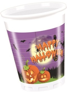 8 Becher - Happy Halloween - 200 ml