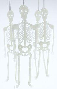 Skelette - Glow in the dark - aus Kunststoff - 30 cm - 4 Stück