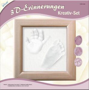 Kreativ-Set 3D-Erinnerungen Hand- oder Fußabdruckset