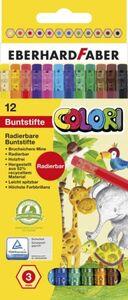 Eberhard Faber - 12 Buntstifte Colori - radierbar