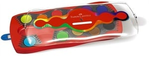 Deckfarbkasten Connector mit 12 Farben und Deckweiß Faber Castell