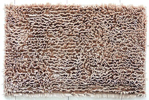 Sensino Luxus Chenille-Badteppich Zottle Shine Gala ca. 50 x 80 cm, Sand