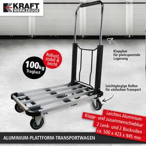 Kraft Werkzeuge Plattform-Transportkarre