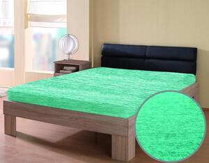 """Dreamtex Jersey Spannbetttuch """"Melange"""" 180-200x200 cm, grün melange"""