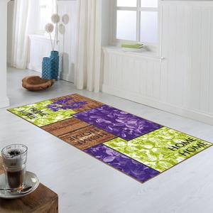 Bella Casa XL-Design-Schmutzfangläufer, ca. 80 x 190 cm, Lavendel / Home Lila / Grün-Beige