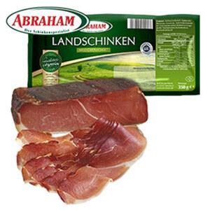 Abraham Schwarzwälder Schinken oder Landschinken ohne Kühlung, jede 350-g-SB-Packung