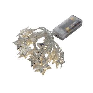 LED Lichterkette Stern Metall mit 10 warmweißen LEDs