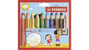 STABILO Multitalent-Stift woody 3in1 10er-Etui