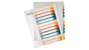 LEITZ Kunststoffregister Zahlen 1-12