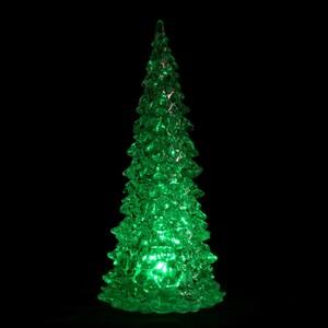 Tannenbaum 23cm LED Farbwechsel glasklar Kunststoff