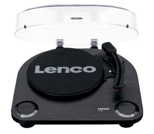 Lenco Plattenspieler LS-40 Riemenantrieb, Farbe: Schwarz