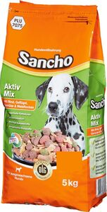 Sancho Aktiv-Mix mit Rind, Geflügel, Gemüse & Maisflocken 5kg