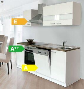 Respekta Küchenzeile KB220WWC 220 cm Weiß