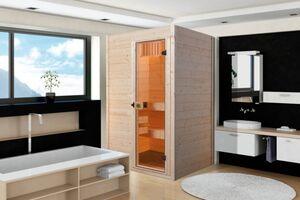 Weka Massivholzsauna Valida Gr. 1 inkl. Sauna-Kompaktofen 3,6 kW