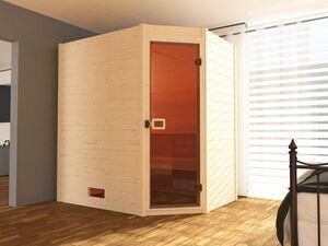 Weka Massivholzsauna Valida Eck Gr. 1 inkl. Sauna-Kompaktofen 5,4 kW