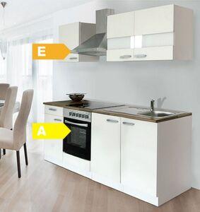 Respekta Küchenzeile KB210WWC 210 cm Weiß
