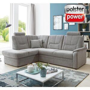 polsterpower Eckgarnitur - grau