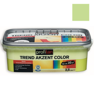 profitan Wandfarbe Trend Akzent Color - farn matt - 2,5 Liter