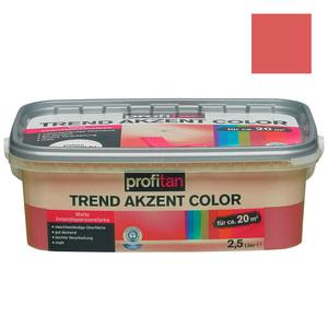 profitan Wandfarbe Trend Akzent Color - morgenröte matt - 2,5 Liter