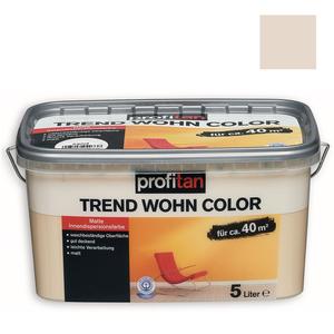 profitan Wandfarbe Trend Wohn Color - mandelsplitter matt - 5 Liter