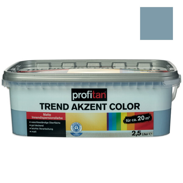 profitan Wandfarbe Trend Akzent Color - blue monday matt - 2,5 Liter